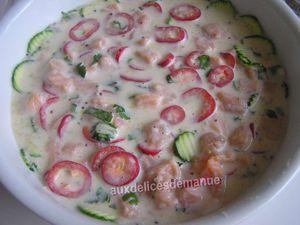 quiche sans pâte courgette poivron et saumon -LIGHT-