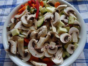 filets de poulet et légumes à la mozzarella au four -LIGHT-