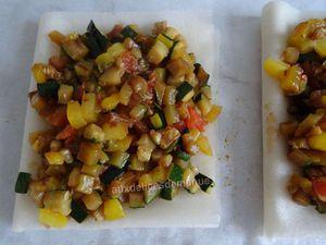 Croustillants aux légumes du soleil et fromage de Rocamadour -LIGHT-