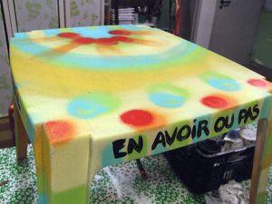 En plus de la récup des tourets, tables et chaises de jardin, voilà maintenant celle des cubis pour un nouvel objet nomade : le cupouf !