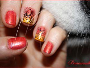 """Nail Art """" arabesques tribales""""   (sur un tuto de """"Tartofraises"""")"""