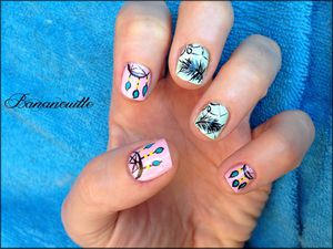 Nail Art &quot&#x3B;attrape rêves&quot&#x3B;