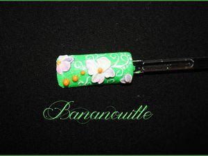 Nail Art &quot&#x3B;fleur des tropiques &amp&#x3B; &quot&#x3B;pâquerette de printemps