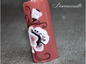 Nail Art &quot&#x3B;fleur dans le vent &quot&#x3B;