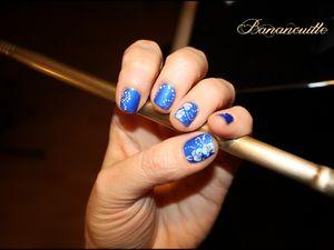 Nail Art &quot&#x3B;orchidées &quot&#x3B;