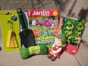 photos dans le jardin ! avec un beau soleil !