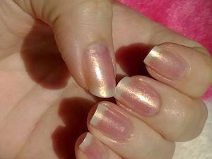 Nail Art facile et simple sur french manucure aux pigments...