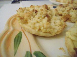 Tartelettes aux pommes et  crumble