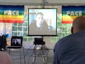 Fondation Pace avec Olivier Corchia. Conférence en Duplex en direct des 48h pour la Paix.
