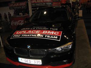 Equipe UPLACE BMC, PRO Triathlon Team au salon triathlon-world