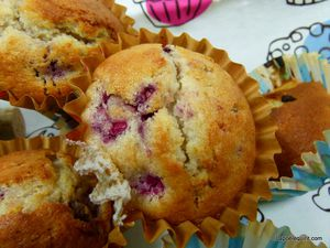 Muffin framboises, muffins poires