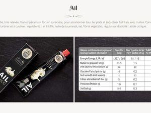La composition et les informations nutritionnelles de chaque tube (cliquer pour zoomer).