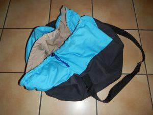 Vue extérieure du sac fini (vide)