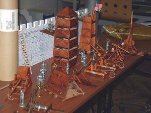 Restauration des maquettes qui ont été conçu dans les années 80 pour leur première présentation.