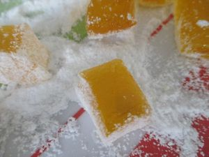 Pate de fruits mangue vanille