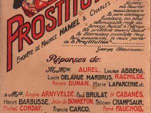 """Réponse de Renée Dunan à l'enquête """"Faut-il abolir la prostitution réglementée ?"""" (C.G.E.P. - 1927)"""