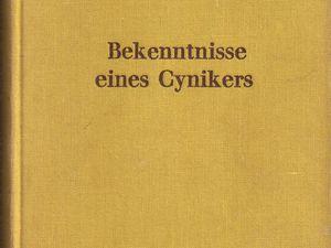 """[Allemagne] Renée Dunan """"Bekenntnisse eines Cynikers"""" (Delta-Verlag - 1931) [Version cartonnée]"""