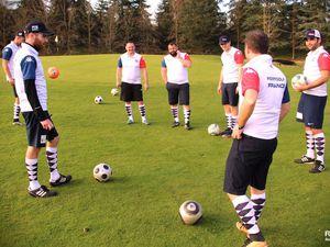L'équipe de France à l'entraînement