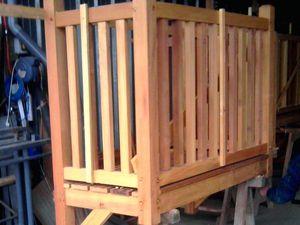 Réalisation de balcon en bois