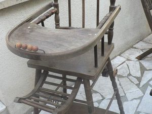 Chaise haute transformable
