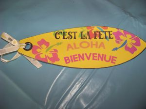 "Enveloppe et planche de surf ""Made in home"""