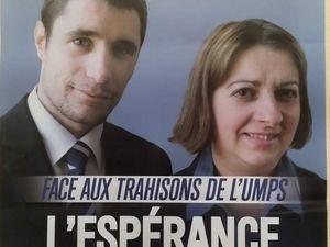 Frédéric Pialeport et Marie-Noëlle Chaumeil avec le soutien de Sébastien Pialeport, candidat FN sur le canton du Plateau de Millevaches