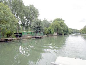 Michel Timmerman est à la barre, nous descendons lentement le Loir
