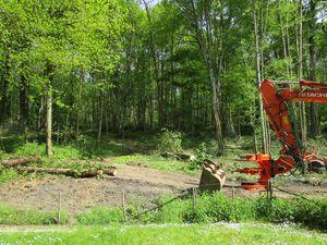 Préparation d'un parcours boisé à la Possonnière