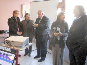De nombreuses personnalités étaient présentes autour du maire, Céline Gautheur