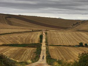 Emanuela Pagan e il Cammino di Santiago. Da Ventosa a Belorado in tre tappe. C'è un po' di crisi nell'aria, ma il Cammino va avanti con tutte le sue sorprese e i suoi doni