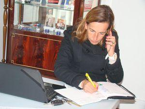 Permanence de Roanne hier avec Aline et Michèle : préparation des réunions de la fédération !