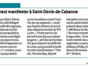 Saint-denis-de-cabanne : une manif qui fait couler de l'encre