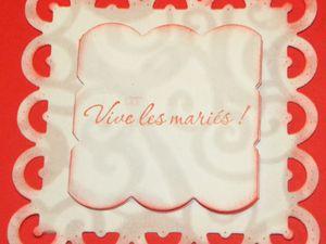Carte pour offrir pour un Mariage