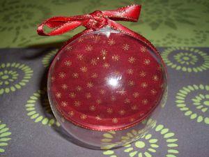 Boule de Noël brodée - Finition