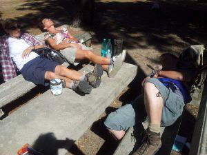 Sous le soleil:effort et sieste