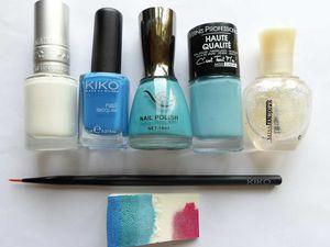 Concours Azur - Dégradé et déco au pinceau