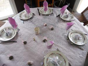 Décoration de table parme