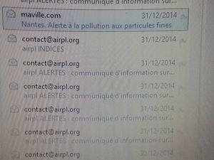 Séries Alertes pollution Airpl 2012 2013 2014 2015