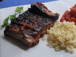 Travers de porc caramélisé au four