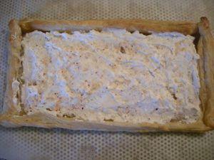 Tarte fine aux asperges vertes ricotta au chèvre frais et parmesan