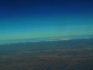 arrivée à La Paz vue d' avion