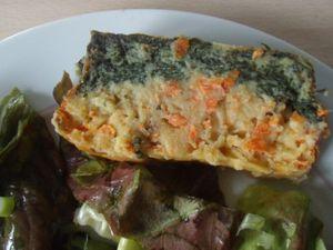 cake épinards et carottes