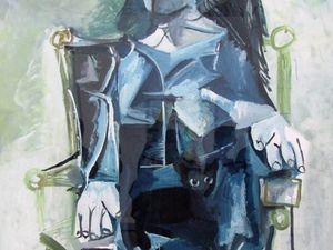 Portrait de Jacqueline 1964 - femme assise 1971