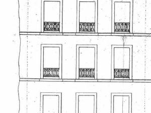 Quelques façades d'immeubles contruits entre 1870 et 1880 (avant sa dégradation)