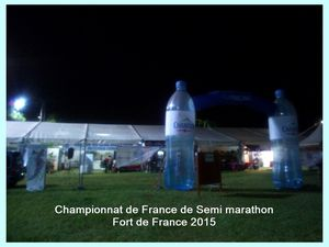 Championnats de France de Semi Marathon. Fort de France 2015