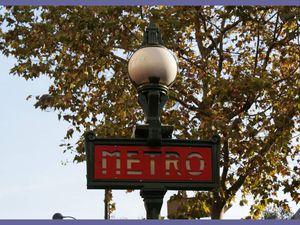 Balade dans le Métro parisien. 2014