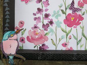 Cadre en papier &quot&#x3B;éclosion de fleurs&quot&#x3B;
