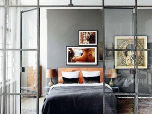 Les cloisons vitrées dans l'esprit verrière d'atelier d'artiste