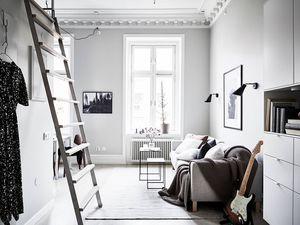 Studio en noir et blanc