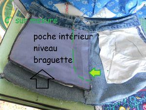 un petit + au sac jeans  = poche secrète !
